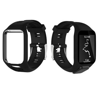 Silicone Strap Watch Band Replacement For TomTom 1 2 3 Runner Multi-Sport GPS