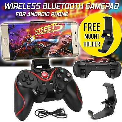 Wireless Bluetooth Game Controller Joystick for Android iOS iPhone Tablet+Holder