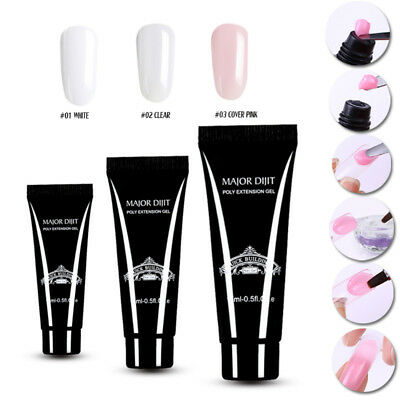 Quick Building Soak off UV LED Poly Extension Gel Manicure Nail Builder Wide