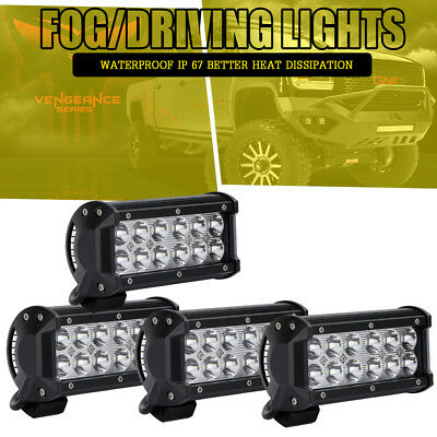 4x 7in LED Work Light Bar Spot ATV Front Bumper Driving Light For SUV Truck Jeep