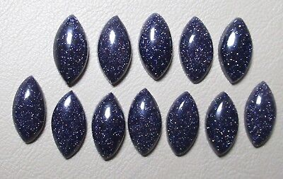 Blue Sunstone Cabochon Marquise Shape 10 X 20 Mm Loose Gemstone For One Piece