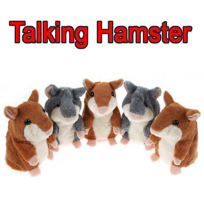 Cheeky Hamster Repeats What You Say Electronic Pet Talking Plush Toy Gift