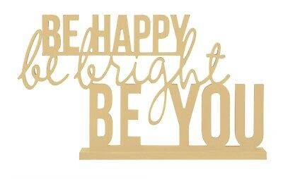 "Kaisercraft Beyond The Page ""Be Happy"" MDF, Wood, KASB2366"