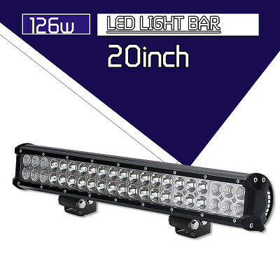 20INCH 126W Led Work Light Bar Combo Offroad Driving SUV 4WD Truck ATV For Jeep