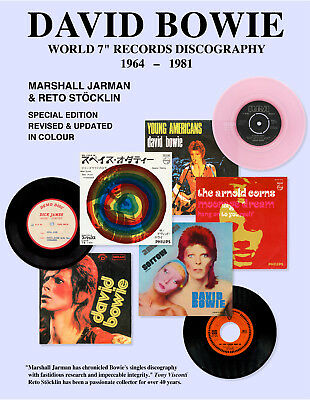 """DAVID BOWIE WORLD 7"""" RECORDS DISCOGRAPHY 1964 - 1981: Updated in full colour"""