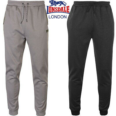 Mens Lonsdale Track Pants Poly Tracksuit Bottoms Lightweight New