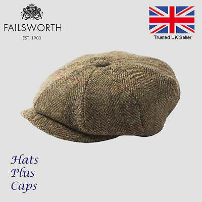 fdb6bd230d4010 Failsworth Gold/Olive Carloway Harris Tweed Newsboy Peaky Blinders Gatsby  Cap