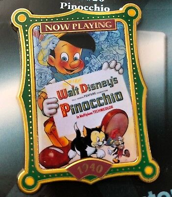 disney trading pin 100 years of dreams Pinocchio movie poster film 1940 cricket