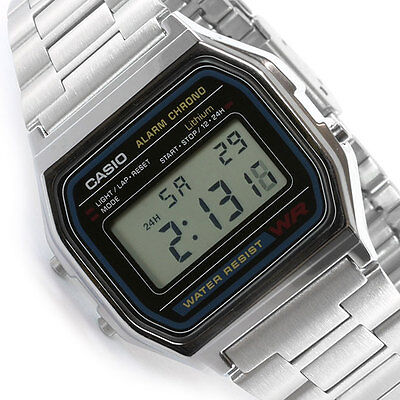 Casio digital watch retro unisex A158 A158W A158WA A158WA-1DF UK Seller