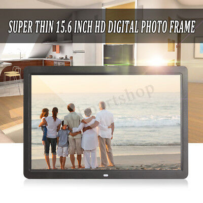 15.6'' Digital Photo Frame HD LED Picture Alarm Clock MP4 Movie MP3 Player