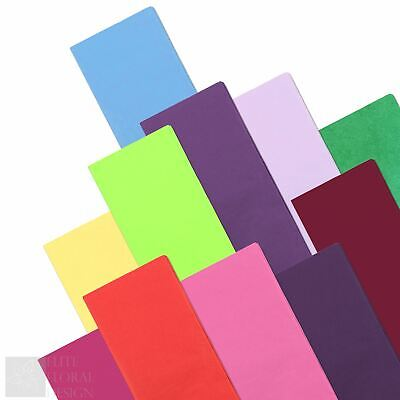 Tissue Paper Sheets Acid Free Plain Coloured Gift Wrapping 50 x 75cm - Multibuy
