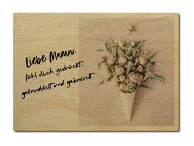 Luxecards Postkarte Aus Holz Liebe Mama Ohne Dich Muttertag