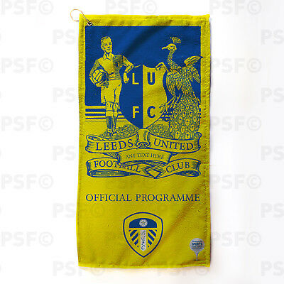 Leeds United FC Official Personalised Retro Official Programme Golf Towel LGT008