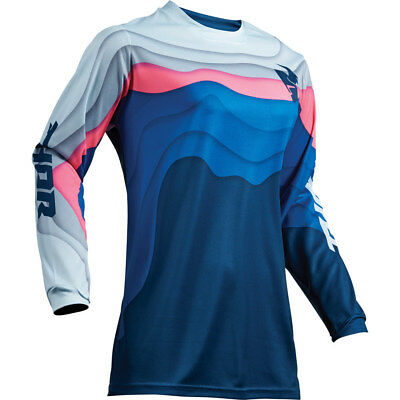 NEW Thor MX Gear Ladies 2019 Pulse Depths Ocean Pink Womens Motocross Jersey