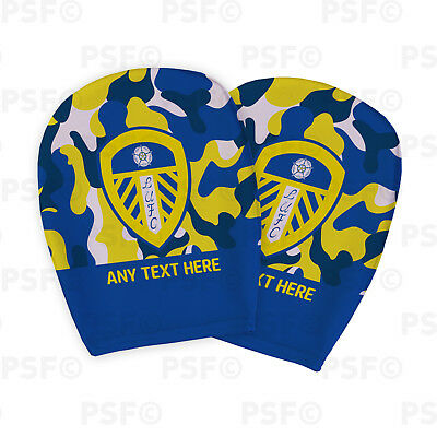 Leeds United FC Official Custom Crest Camouflage Car Head Rest Cover LHR005
