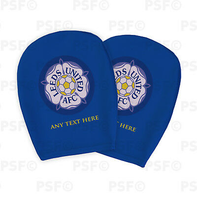 Leeds United FC Official Custom Yorkshire Rose Blue Car Head Rest Cover LHR010