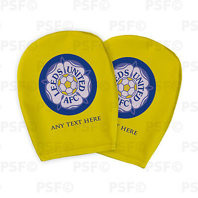 Leeds United FC Official Custom Yorkshire Rose Yellow Car Head Rest Cover LHR011