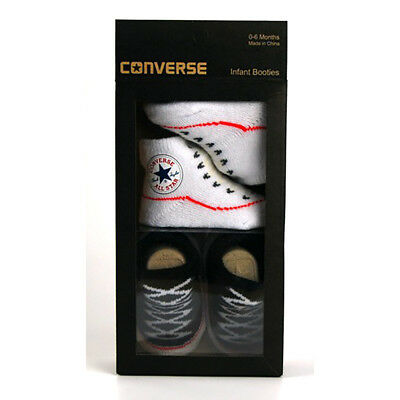 Converse NEW Boys Infant Booties Black 0-6 months BNWT