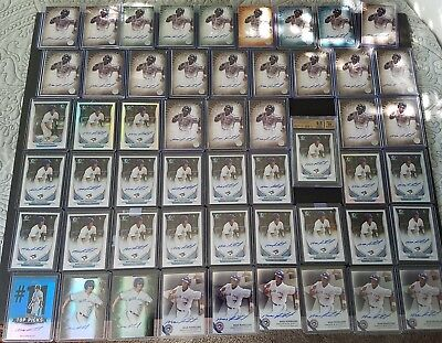 2014 2015 Bowman Max Pentecost 198 Card lot, Incl. 50+ Autos Blue Jay's Prospect