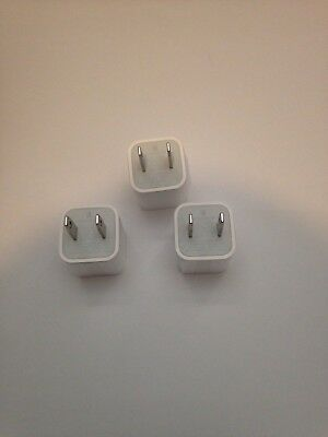3x 3 Pcs Lot Pack NEW Apple iPhone USB Power Wall OEM Charger Adapter Original