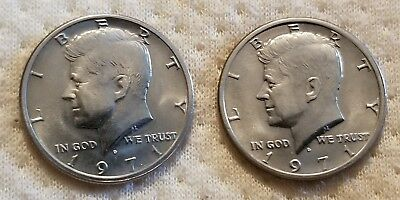 2 Count 1971 D Kennedy Half Dollars