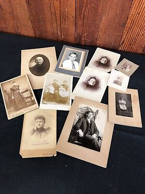 Lot of 11 Vintage Photos - Cabinet Card - Out of Pennsylvania