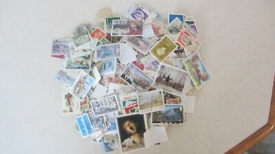 New Listing - 1000+ Of Worldwide Stamps - Off Paper - No Us -Free Shipping - #18