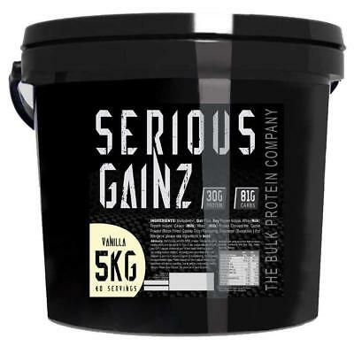5 Kg Mass Gainer The Bulk Protein Company Serious Gainz Lean Powder 30G Vanilla