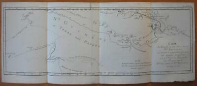 1774 - COOK -  Map NEW GUINEA  PAPUA  NEW BRITAIN