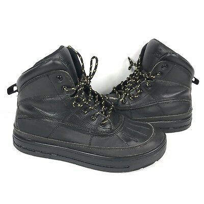 cc89f5cc359537 Nike Woodside 2 High GS Triple Black 524872-001 Boys ACG Boots Youth Size 6Y