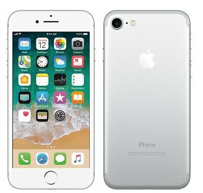 Apple iPhone 7, 32GB, Silver, Fully Unlocked, Great