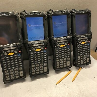 Lot of 4x Motorola MC9000-KH0HBEEA400 Mobile Computer Scanners w/Batteries