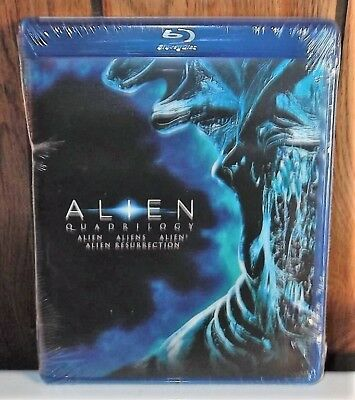 Alien Quadrilogy Blu-ray 4 Disc Set Includes 2 Versions of each Movie Free Ship!