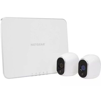 Netgear Arlo VMS3230 In/Outdoor Security System with 2 Wireless HD Cameras NEW!