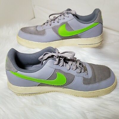 new concept 33f38 17115 Mens Nike Air Force 1 Wolf Grey and Action Green lace up Size 13 in Good