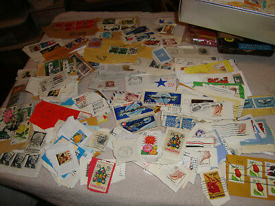 Postage Stamps World USA LOT 500 + BULK Cancelled Collectible Philatelist Craft