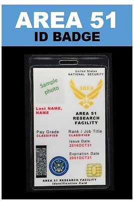 """AREA 51""  ID Badge ..."
