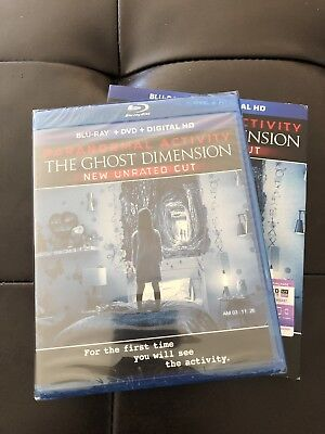 Paranormal Activity: The Ghost Dimension Blu Ray New Unrated Cut Unopened