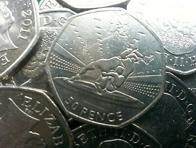 Olympic 50p. London 2012. WRESTLING. Fifty pence. Circulated.