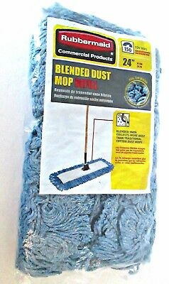 """Rubbermaid Commercial Products blended dust mop refill 24"""" 086876222067 new"""