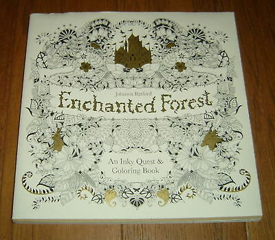 Enchanted Forest : An Inky Quest & Coloring Book by Johanna Basford (2015)