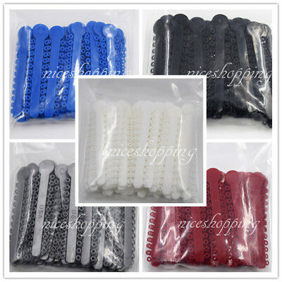1008Pcs/Pack Dental Orthodontics Elastic Ligature Ties White Black Blue Red Grey