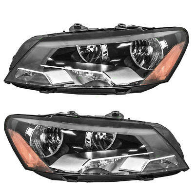 Fits Headlight Right & Left For 2012 2013 2014 2015 Volkswagen  Passat