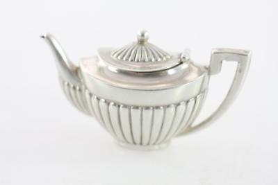Antique Victorian English Lns Sterling Silver Miniature Teapot