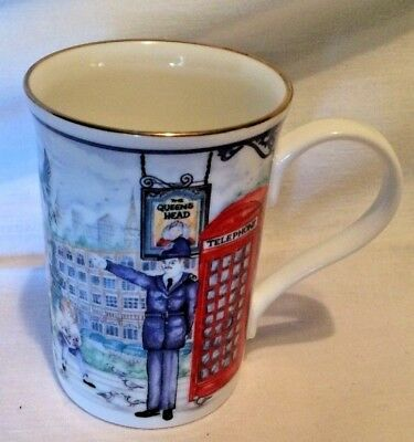 Sadler tea cup - PIccadilly pattern,made in England - London Heritage Collection