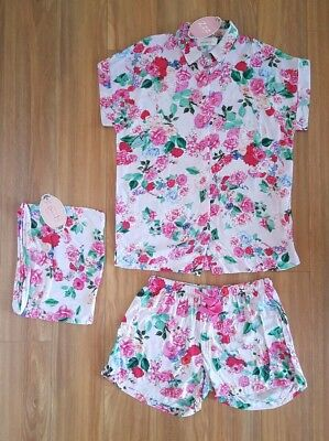 PETER ALEXANDER PJS Womens Floral Shortie Set Shorts & Top Size XS BNWT Sleep PJ