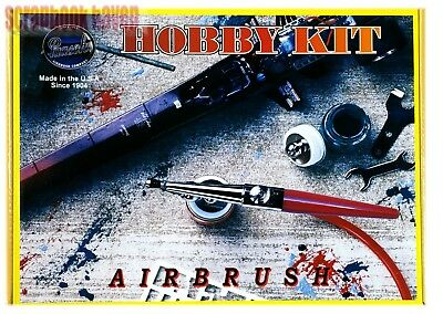 Paasche 2000H Single Action Airbrush Hobby Kit Acrylics Enamels & Fabric Paints