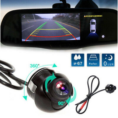 HD 360 Degree Rotatable CCD Reverse Car Front/Side/Rear View Backup Camera