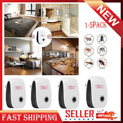 Ultrasonic Pest Repeller Control Reject Mosquito Rodent Insect Bug Plug & Play