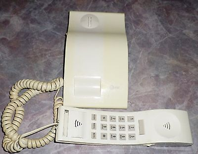 Vintage ATT Desktop Telephone White Push Button Slim Line 92365M